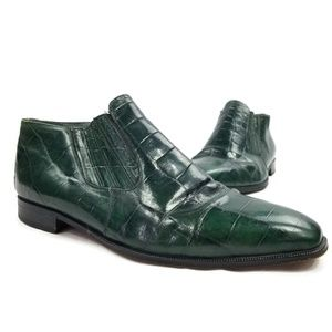 Stacy Adams Green Leather Slip On